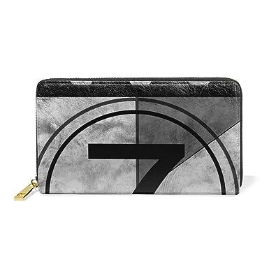 71d9f2076e LORVIES Film Countdown 7 Leather Clutch Purse Long Wallet Card ...