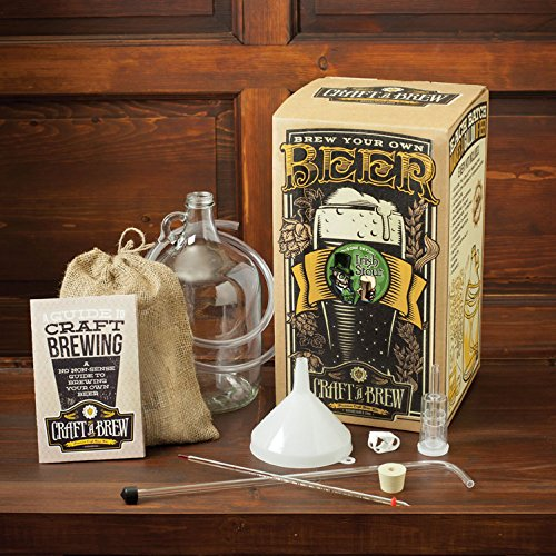 Craft a Brew BK-DIS Home Brewing Bone Dry Irish Stout Reusable Make Your Own Beer Kit – Starter Set 1 Gallon