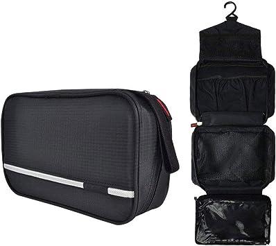 MYLEDI Bolsas de Aseo Cosméticos, Neceser Maquillaje Pack Neceser Baño Toiletry Kit Impermeable y Plegable Multifuncional Kit para Viaje,Black: Amazon.es: Deportes y aire libre