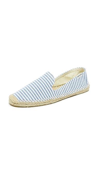 7fa5297ca Soludos Women's Smoking Slipper Espadrilles, Blue/White, 5 B(M) US ...