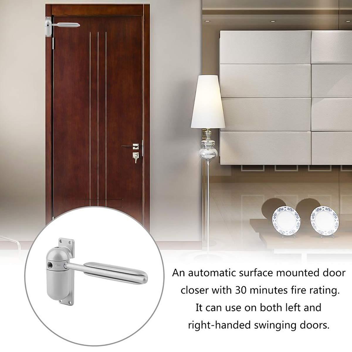 SOONHUA Household Light Track Door Closer Adjustable Surface Mounted Automatic Door Door Closer Spring Loaded for Auto Closing Household Light Track Door Closer