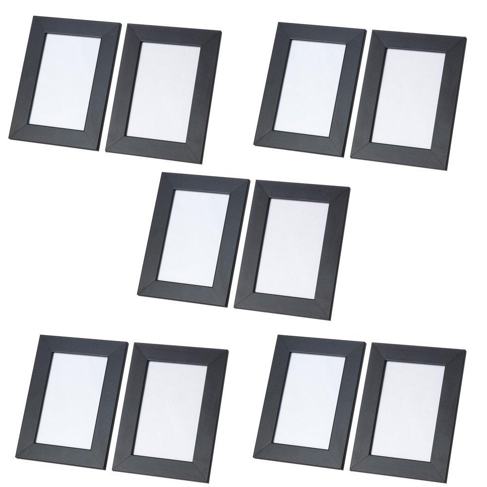IKEA Bilderrahmen NYTTJA, 10 Stück SCHWARZ (10x15 cm Bildgröße ...