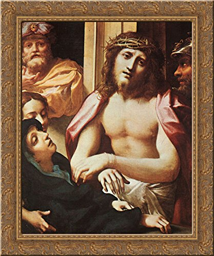 Ecce Homo 20x23 Gold Ornate Wood Framed Canvas Art by Correggio