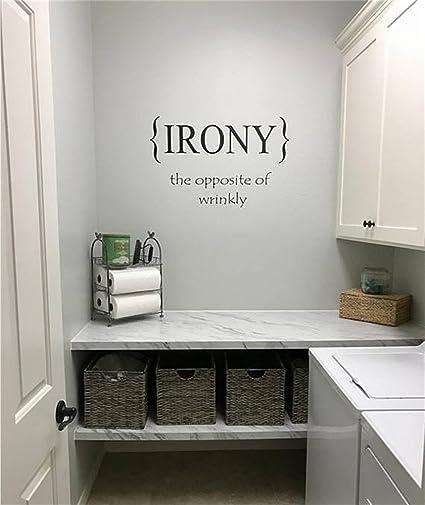 Amazon Com Siyjl Room Wall Decor Stickers Laundry Room Irony The