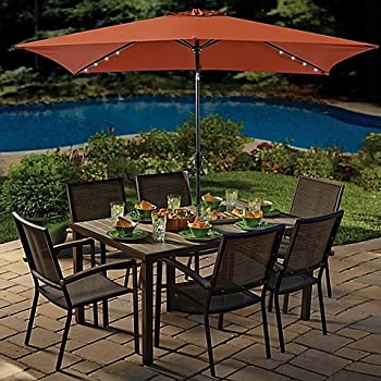 Amazon Com 11 Foot Rectangular Aluminum Patio Umbrella