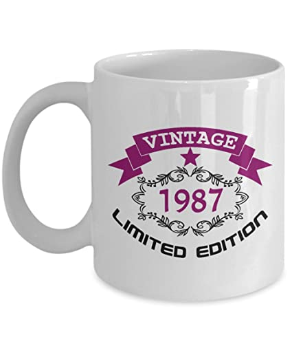 happy 31th birthday mugs for women funny 11 oz vintage 1987 31 year old