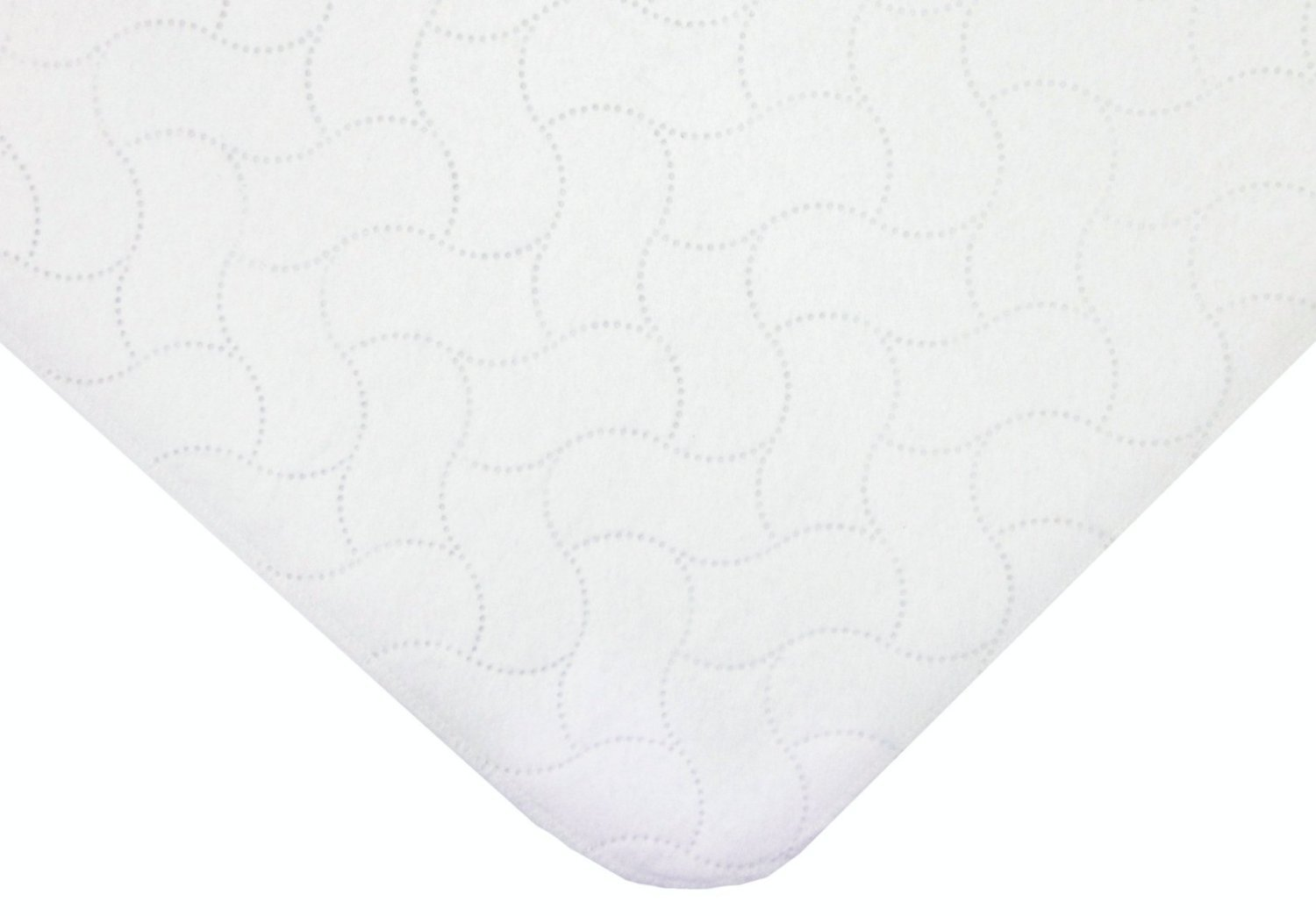 Babyhaven Flat Quilt-Like Waterproof Cradle Pad, White, 2 Pack