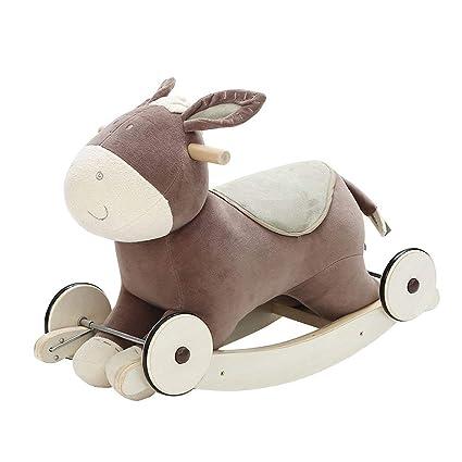 Labebe niño mecedora caballo de juguete Animal de peluche, mecedora juguete, 2 en 1 Rocker con rueda para bebés de 6 - 36 meses, niños mecedora ...