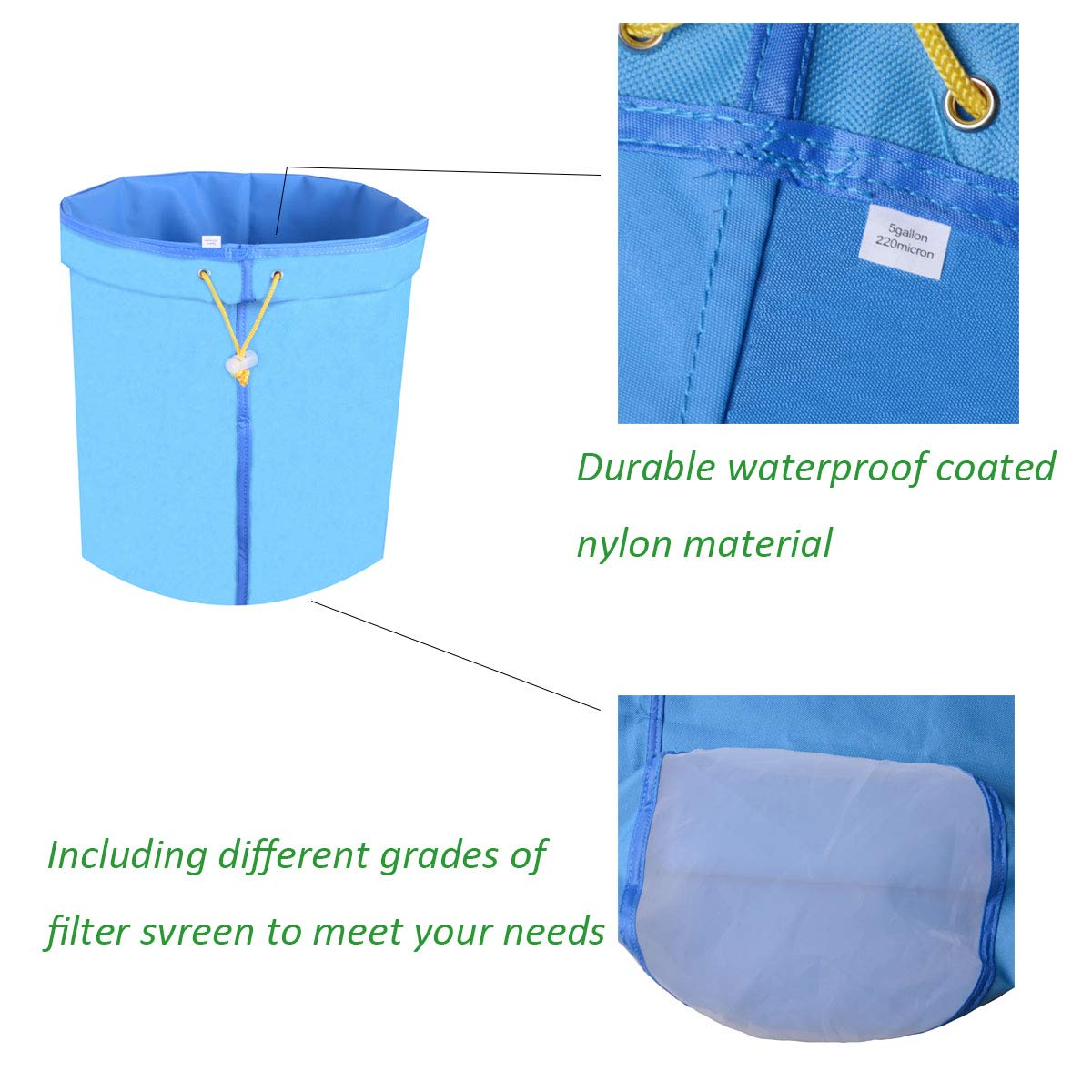 Amazon.com: Growtent - Juego de bolsas de filtración para ...