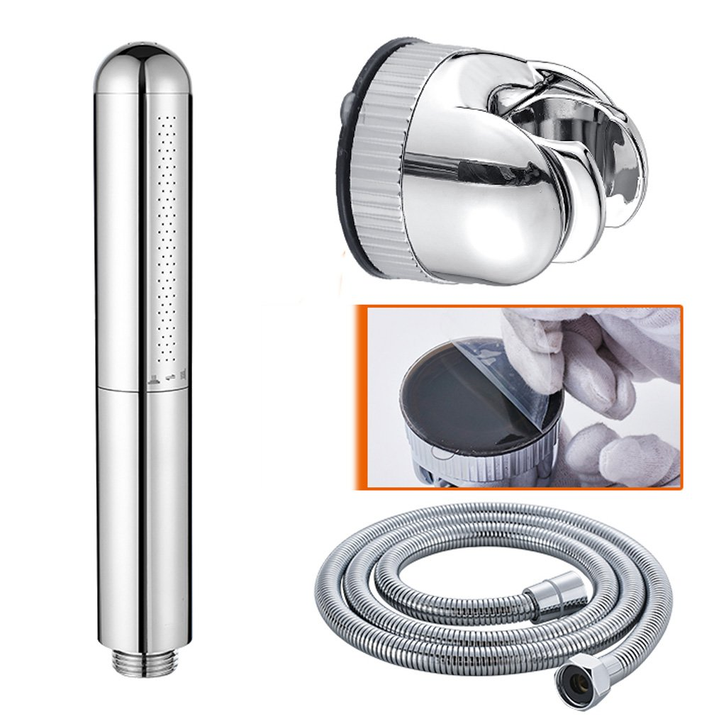 Hand shower Suction Cup Base Copper Booster Nozzle Rain Head Hose Household Bathroom 195MM30MM20MM MUMUJIN