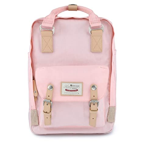 cb2f762f9a8d Himawari School Waterproof Backpack 15 Inch College Vintage Travel Bag for  Women, 14 Inch Laptop Compartment for Student (HM-35#)