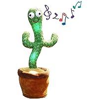 LELEBEAR Cactus bailarín Repite lo Que Dices, Juguete electrónico de Cactus bailarín con 120 Canciones en inglés y…