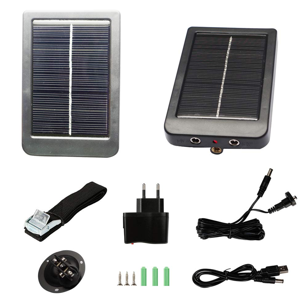 Trail Camera Solar Panel Kit - Waterproof Solar Charger with a 1500 mAH Rechargeable Lithium Battery - Outdoor Power System for Game, Hunting or Trail Cameras by CreativeXP - Save Money & Time by CreativeXP