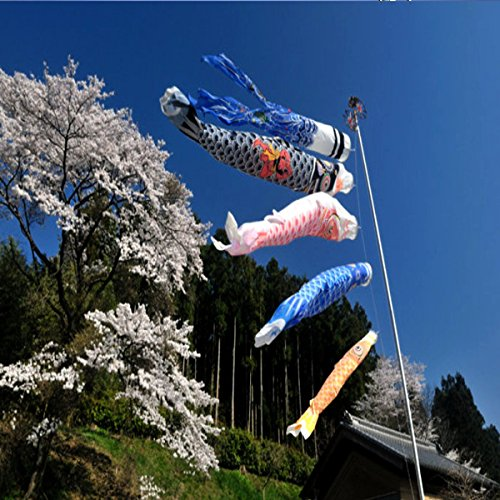 1 Set 5Pcs Japanese Carp Flag Carp Banners Windsock Sailfish Koinobori Wind Streamer Muticolor Fish