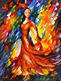 ORANGE FLAMENCO is an Original Oil Painting on Canvas by Leonid AFREMOV Picture