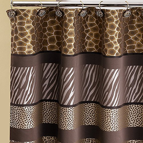 PB Home Popular Bath Safari Stripes Shower Curtain 70X72