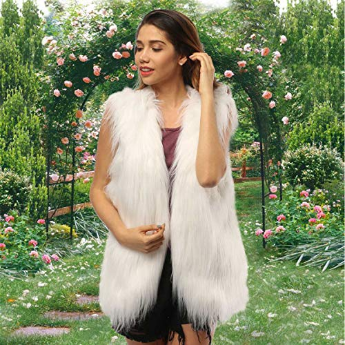 LED Light-Up Faux Fur Vest