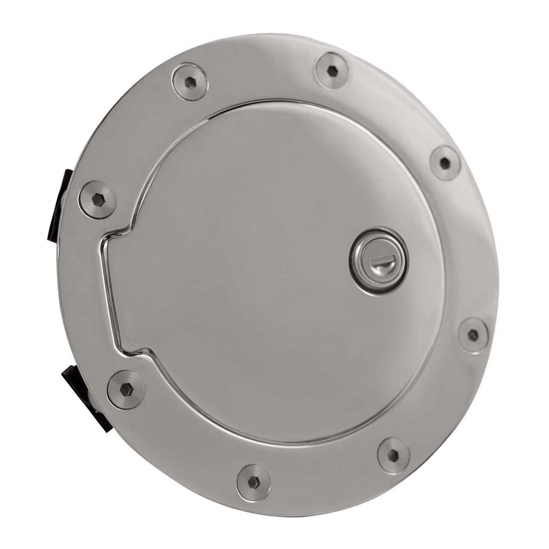 Amazon.com: Bully GD-303CKP Chrome Plated Billet Aluminum Fuel Door with Lock: Automotive