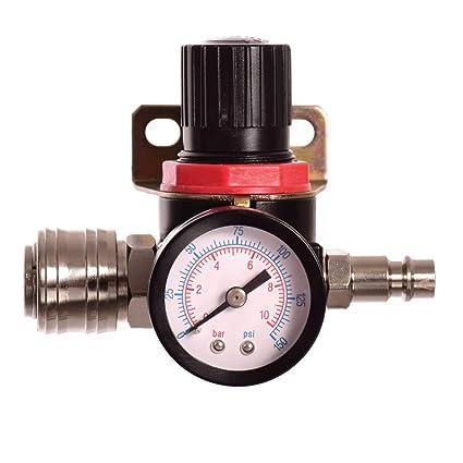 Unidad de mantenimiento de aire comprimido Reductor de presión Regulador para compresor acoplamiento rápido