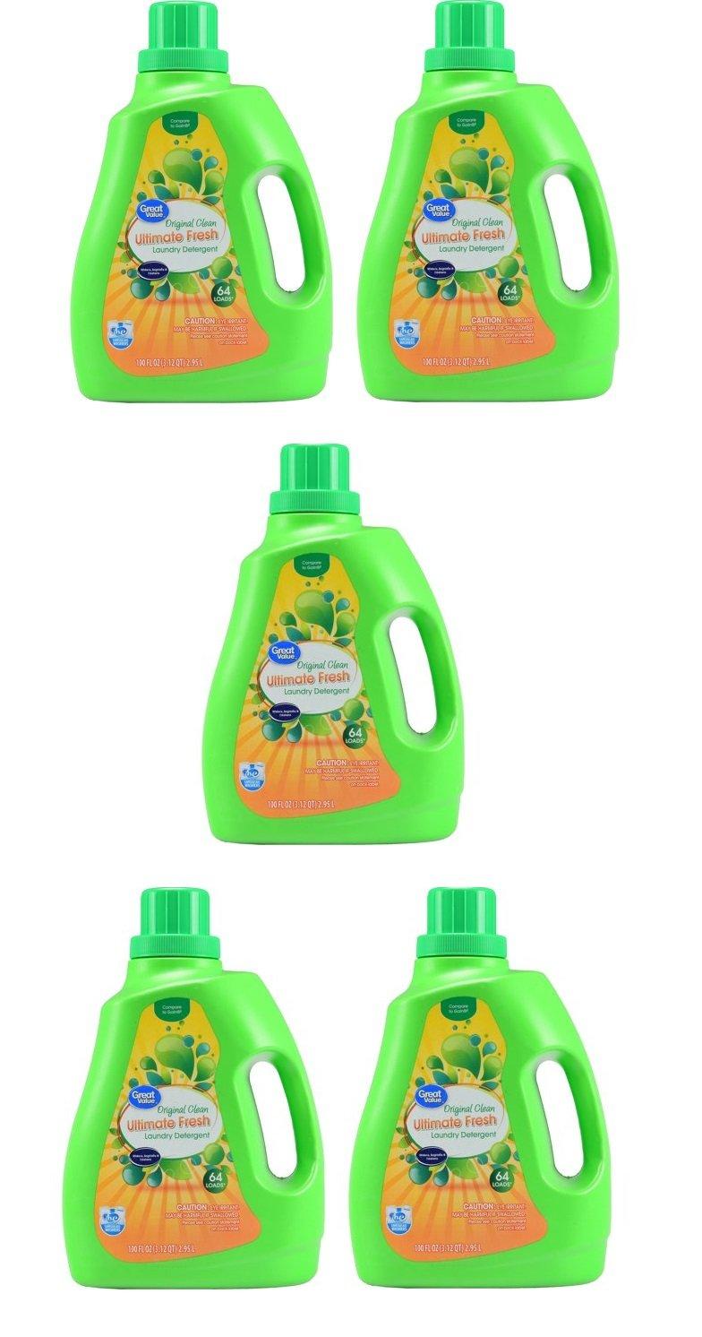 Great Value Ultimate Fresh Liquid Laundry Detergent, Original Clean Scent, 100 Oz (5)
