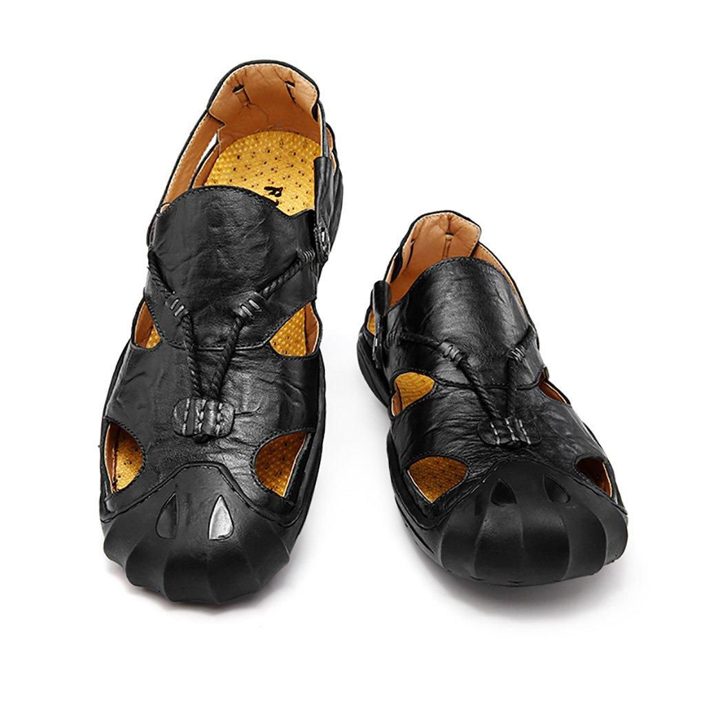 Männer Sandalen zu Frühling und Sommer Baotou zu Sandalen Fuß im Freien Rutschfeste Bewegung Sandalen Casual Strand Schuhe aus Echtem Leder Werkzeug Hausschuhe - 163468