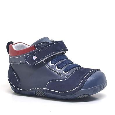 201d42a490f42 Lacivert Hakiki Deri Ortopedik Mevsimlik Lastikli Erkek Bebek Ayakkabı