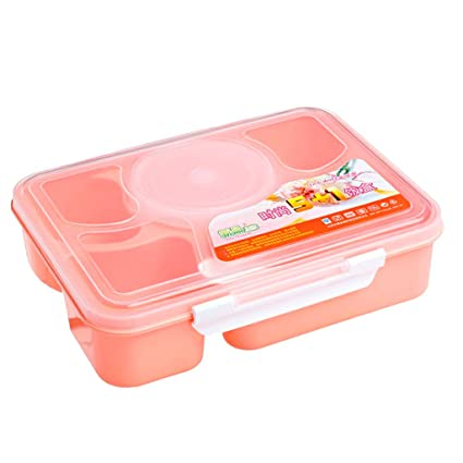 7489cd7e09fa Generic Microwave Bento Lunch Box With Spoon Utensils Picnic Food Container  Storage Box Hot - Pink