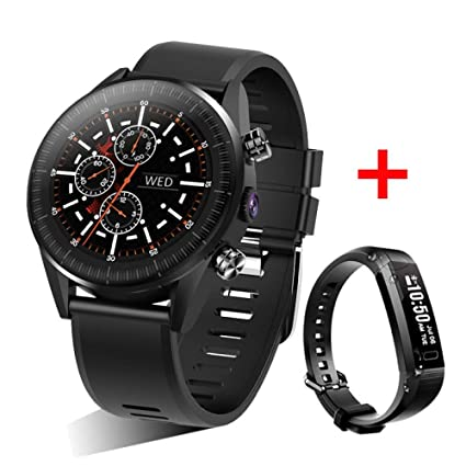 MINSINNY Reloj Inteligente Reloj 4G Smart Watch Android 7.1 ...