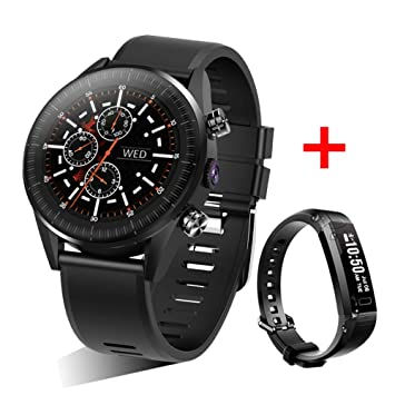 MINSINNY Reloj Inteligente Reloj 4G Smart Watch Android 7.1.1 1GB ...