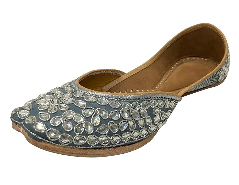 Step n Style Indian Beaded Shoes Flip Flop Sandal Punjabi Jutti Khussa Flat Shoes SS111