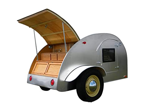8' Teardrop Camper Trailer DIY Plans Tear Drop Vintage Camper RV