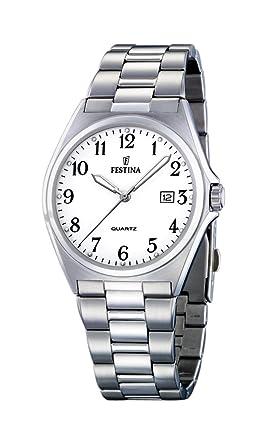 FESTINA F16374/1 - Reloj de Caballero de Cuarzo, Correa de Acero Inoxidable Color Plata: Amazon.es: Relojes