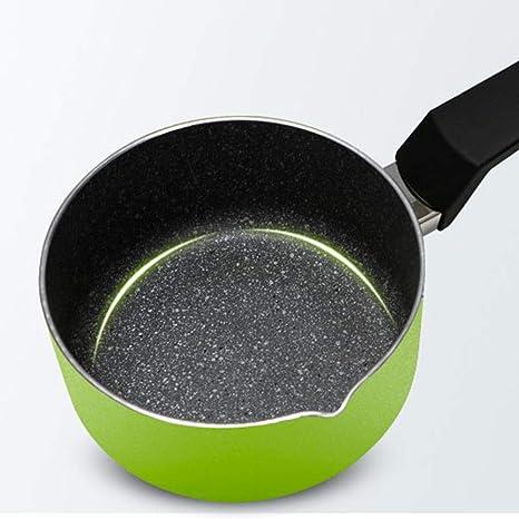 ZHANGAIZHEN-naiguo Olla De Leche Cazos para Leche Sartenes Y Ollas Cacerola Hogar Y Cocina Aleación De Aluminio Antiadherente Pan Mint Green 16cm: ...