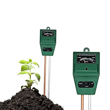 3 IN 1 Soil pH and Moisture Light Intensity Meter Plant Tester for Plants Growth