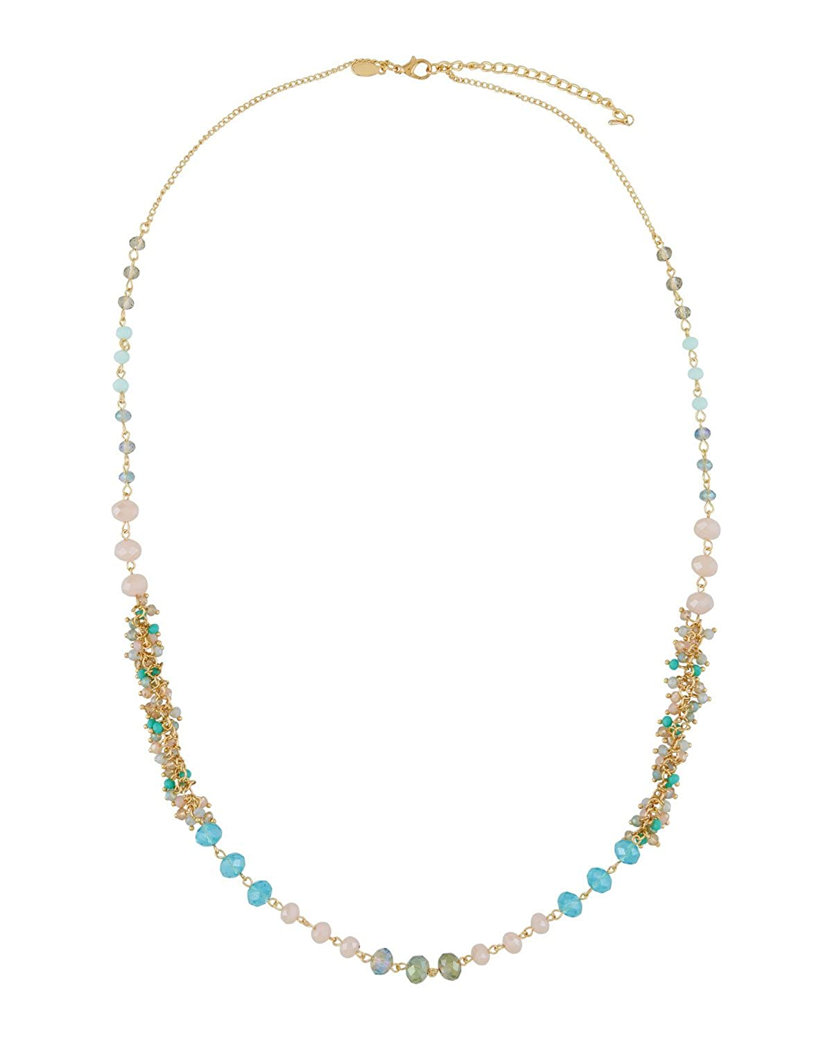 Green Greenbeads by Emily /& Ashley Long Simulated Crystal Beaded Necklace