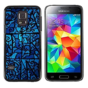 Plastic Shell Protective Case Cover || Samsung Galaxy S5 Mini, SM-G800, NOT S5 REGULAR! || Glass Night Ghostly Blue Pattern @XPTECH