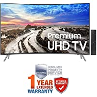 Samsung UN55MU8500FXZA 54.6 Curved 4K Ultra HD Smart LED TV (2017 Model) + Extended 1 Year Warranty Bundles