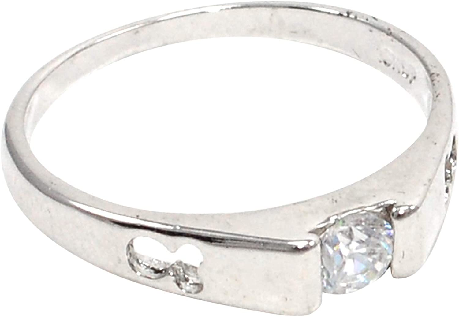 Saamarth Impex Cubic Zircon 925 Silver Plated Ring Sz 9 PG-108125