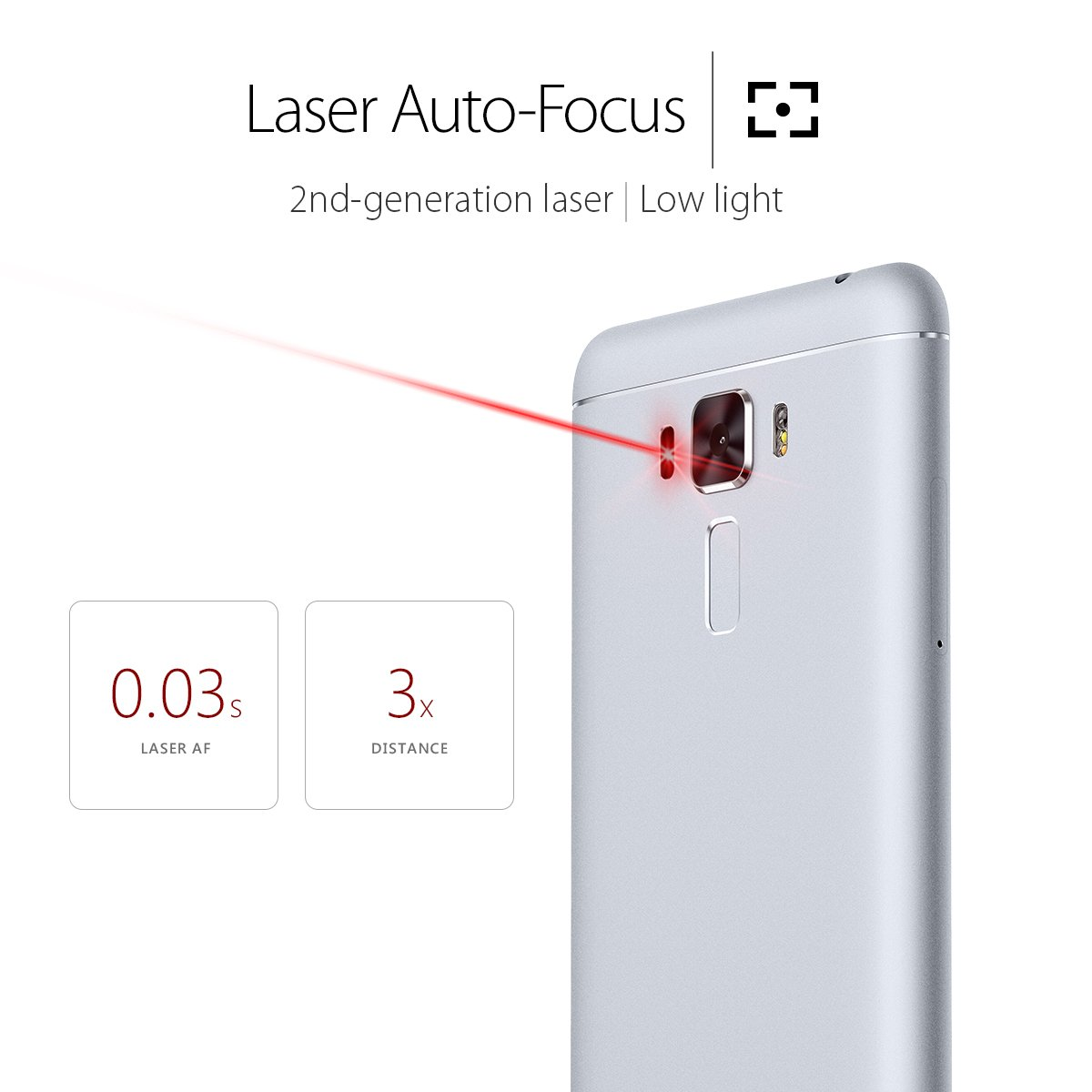 Asus Zenfone 3 Laser 55 Inch Glacier Silver Zc551kl Zoom S Ze553kl Lte 55ampquot 4 64gb Auto Focus 13mp Rear 8mp Front Camera Ips Fhd Display 2gb Ram 32gb Storage