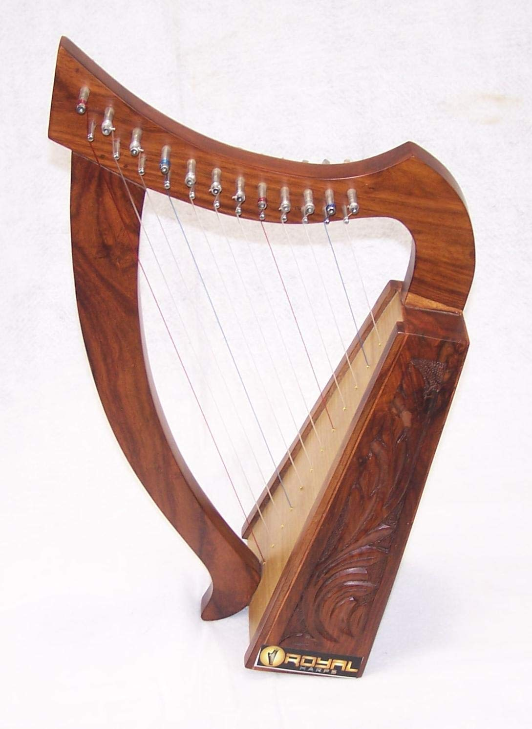 Celtic Irish Baby Harp 12 Strings Solid Wood Free Bag Strings Key by ROYAL HARPS (Image #7)