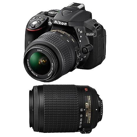 NIKON D5300 + 18-55 VR + 55-200 VR GARANTI 3 ans: Amazon.es ...