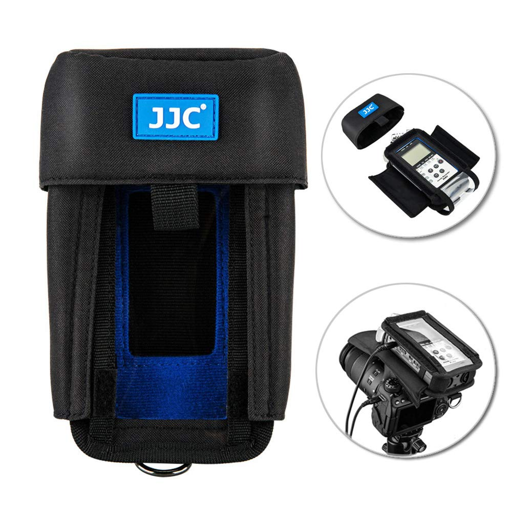 Handy Recorder Pouch JJC Portable Case Accessories for Zoom H6 with Hook & Loop Fasteners Design, Removable Mic Cover, Belt loop, Boom Pole Sleeve & D-ring HRP-H6