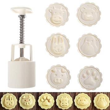 3D DIY Molde para Tartas, Animal Sellos Molde de Luna Moon Cake, 50 G Herramienta de cocinado: Amazon.es: Hogar