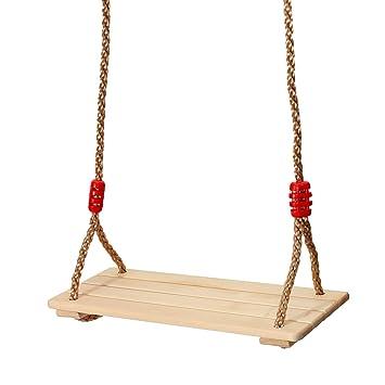 KING DO WAY Siège De Balançoire Bois Pour Enfants Adultes Extérieur  Intérieur Swing Seat 40cmX16cmX1. d06d68f63084
