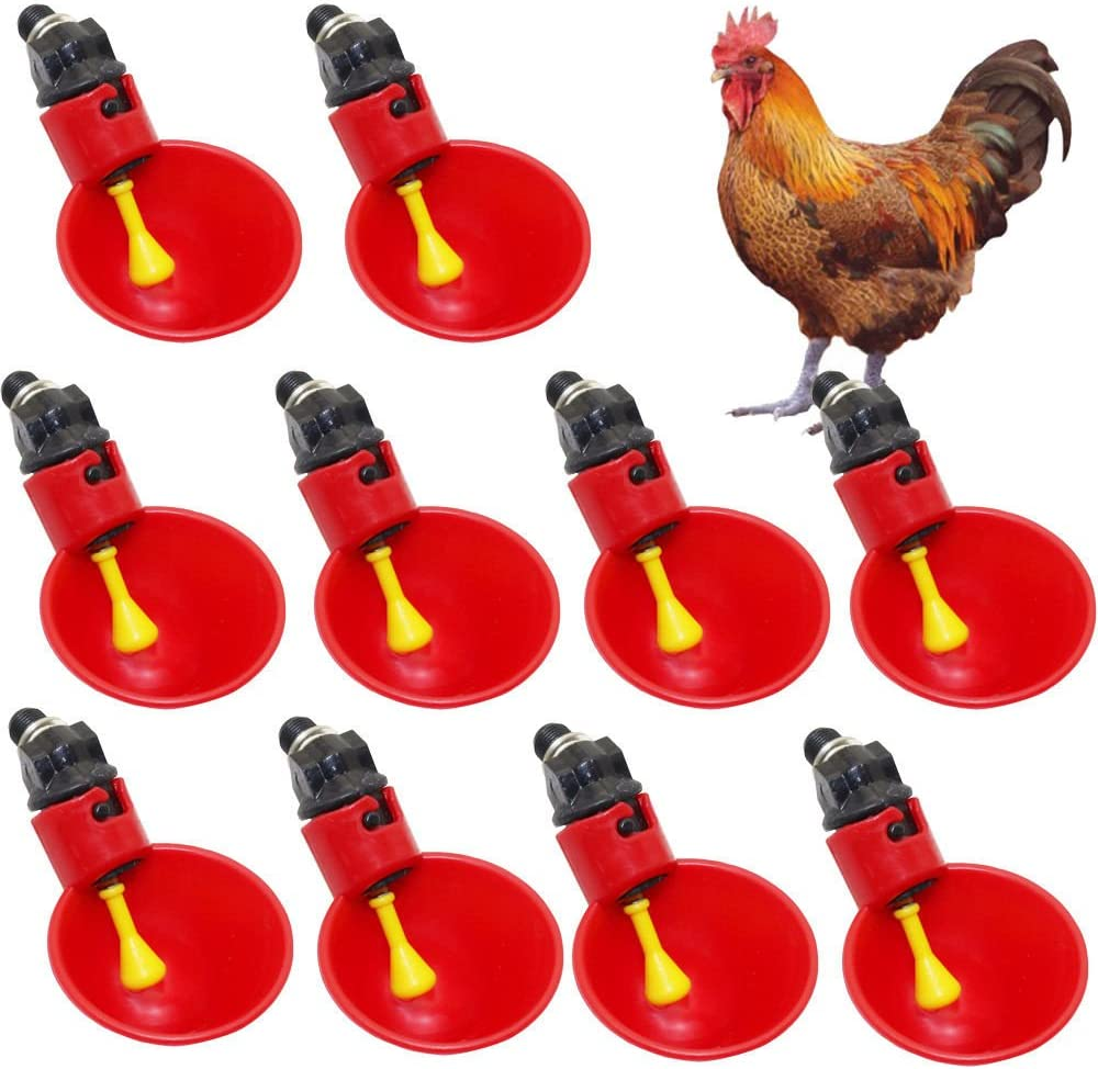 10X Farm Automatic Chicks Waterer Poultry Chickens Drinker Device Accessories