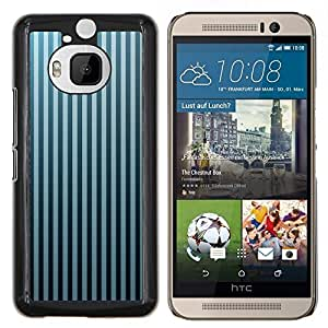 LECELL--Funda protectora / Cubierta / Piel For HTC One M9Plus M9+ M9 Plus -- Stripes Wallpaper Gris Azul Negro aleatoria --