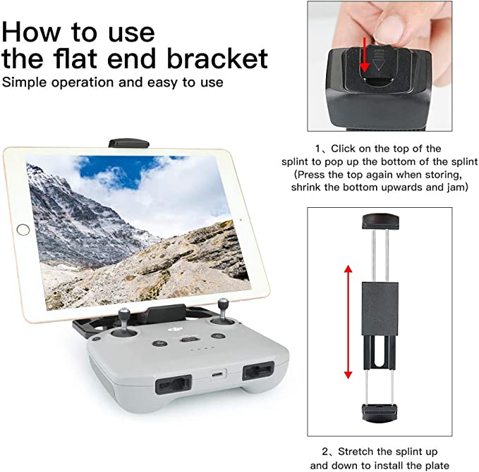 Air 2 Mavic 2 Pro//Zoom Spark Drone EVO 2 FIMI X8SE 2020 Remote Controller 4-11 inch Foldable Tablet Holder with Neck Lanyard RCGEEK Tablet Stand Compatible with DJI Mavic Mini 2