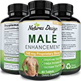 Natural Male Enhancement Supplement - Best Libido Support Pills for Men - Boost Drive & Stamina - Enhances Bedroom Performance - Pure Tongkat Ali + Ginseng + Maca + L-Arginine - By Natures Design