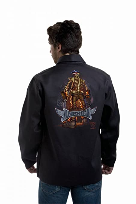 Tillman 9061 columna vertebral de América soldadura chaqueta talla XL