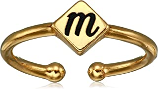product image for Alex and Ani Women's Initial M Adjustable Ring, 14kt Gold Plated